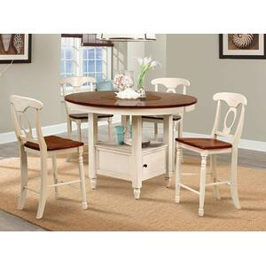 Round Gathering Height Table W/ Storage Base