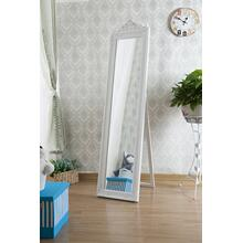 7055 WHITE Full Length Standing Crown Mirror