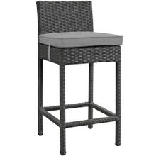 Sojourn Outdoor Patio Sunbrella® Bar Stool in Canvas Gray