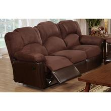 Izem Reclining/Motion Loveseat Sofa or Recliner, Chocolate-plush-micro-fiber, Motion-sofa