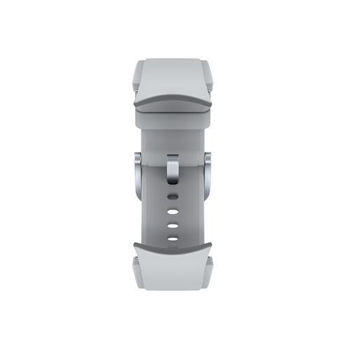 Samsung - Galaxy Watch4, Galaxy Watch4 Classic Ridge-Sport Band, M/L, Silver