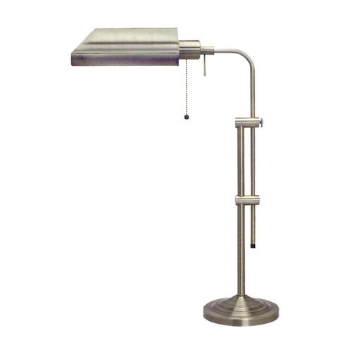 60W metal pharmacy table lamp w/adjustable pole (takes CFL bulb)