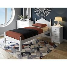 View Product - 1431 - 100% Solid Wood Reston Twin Bed, White