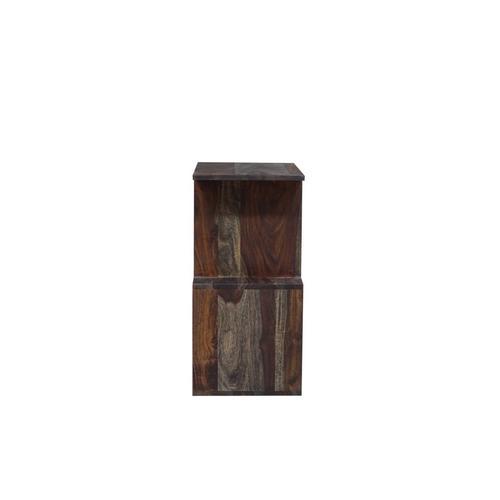 Porter International Designs - Fall River Obsidian 2 Tier Bookcase, HC4497S01
