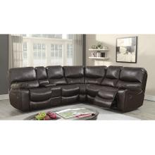See Details - Ramsey Brown Leather-Look Reclining Sectional, M6053