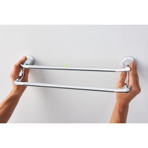 """Hilliard chrome 24"""" double towel bar"""