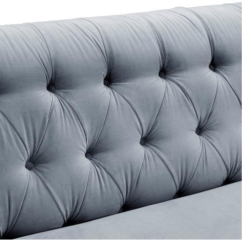Tov Furniture - Hanny Grey Velvet Sofa
