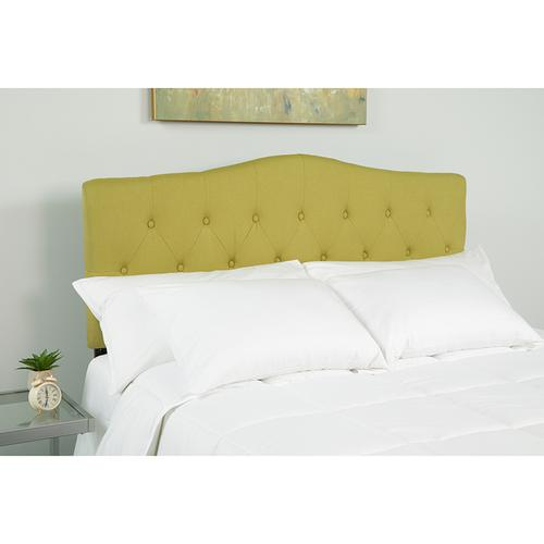 Cambridge Tufted Upholstered King Size Headboard in Green Fabric