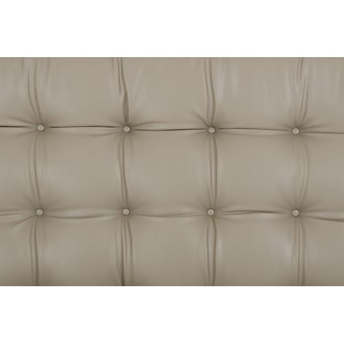 Modrest Codex Modern Grey Leatherette Bed