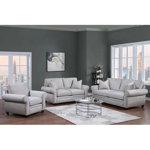 Porter International Designs - Oasis Cream Sofa, Loveseat & Chair, U6327