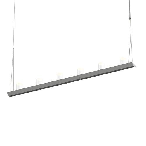 "Sonneman - A Way of Light - Votives LED Bar Pendant [Size=4', Color/Finish=Bright Satin Aluminum, Shade Size=3"" height x 2.25"" diameter]"