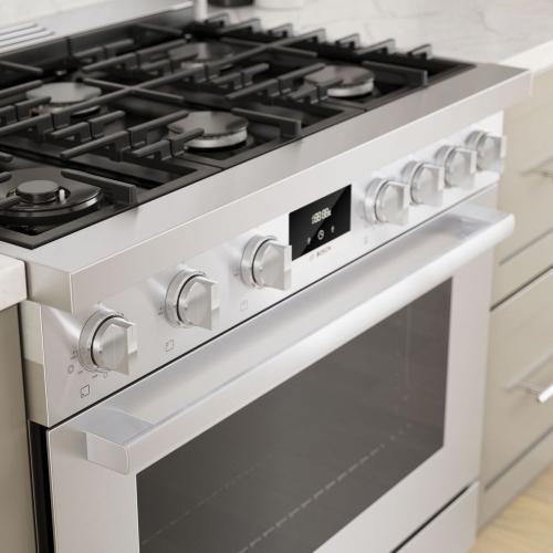 800 Series Gas Freestanding Range 36'' Stainless steel HGS8655UC