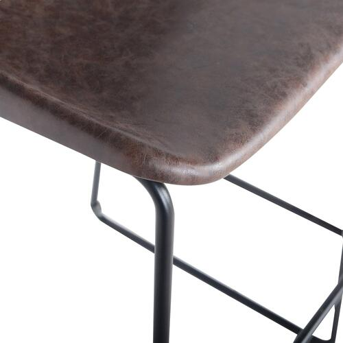 Delta PU ABS Counter Stool, Vintage Coffee Brown