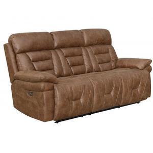 Brock Dual-Power Reclining Sofa, Cinnamon