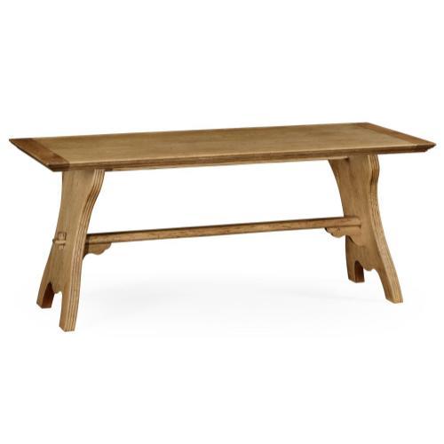 Natural oak tavern dining table large