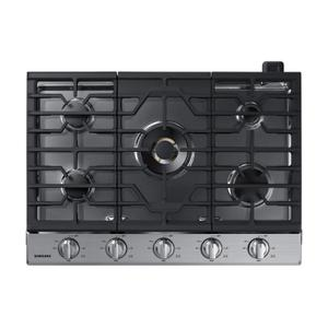 "Samsung Appliances30"" Smart Gas Cooktop with 22K BTU Dual Power Burner in Stainless Steel"