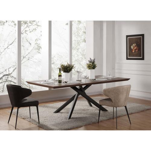 Moreno KD Dining Table, Walnut