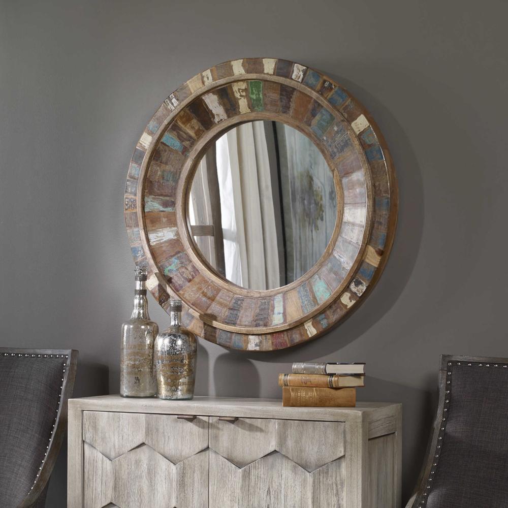 See Details - Jeremiah Round Mirror