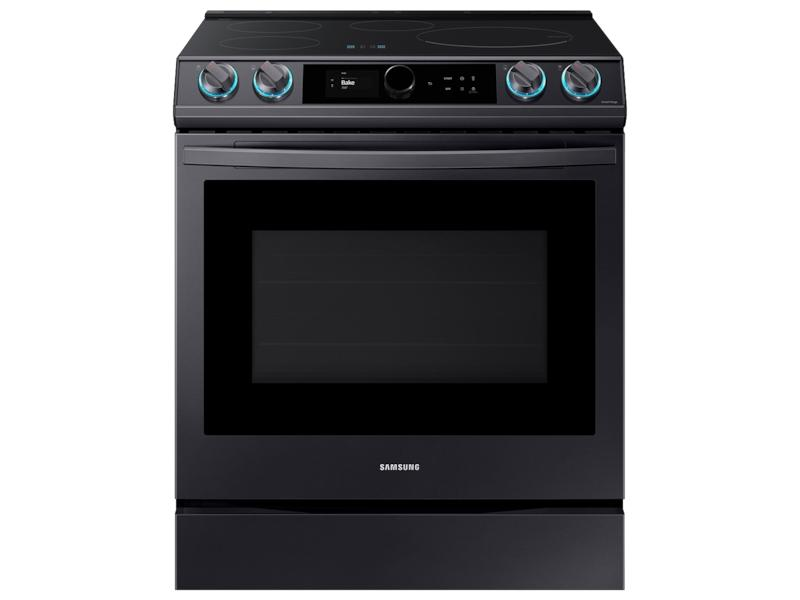 Samsung6.3 Cu. Ft. Smart Slide-In Induction Range With Smart Dial & Air Fry In Black Stainless Steel