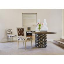 Louis Arm Chair Quatrefoil Back