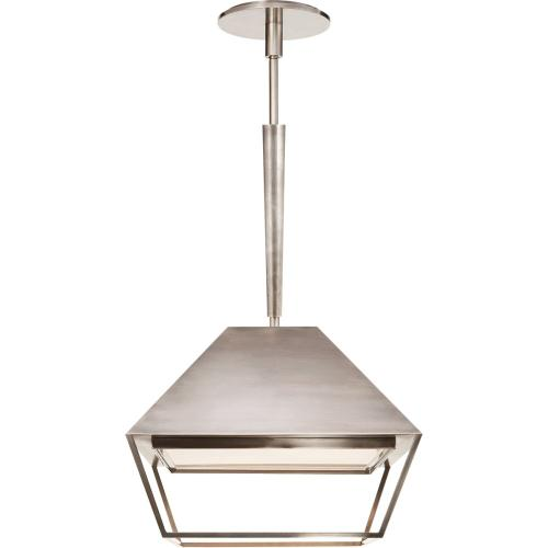 Visual Comfort BBL5101PWT-FA Barbara Barry Odeum 2 Light 14 inch Pewter Hanging Lantern Ceiling Light, Small