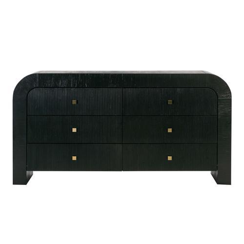 Hump 6 Drawer Black Dresser