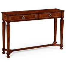 Empire style mahogany two drawers console