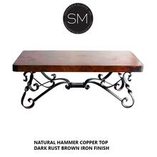 Hammer Copper Rectangular Coffee Table
