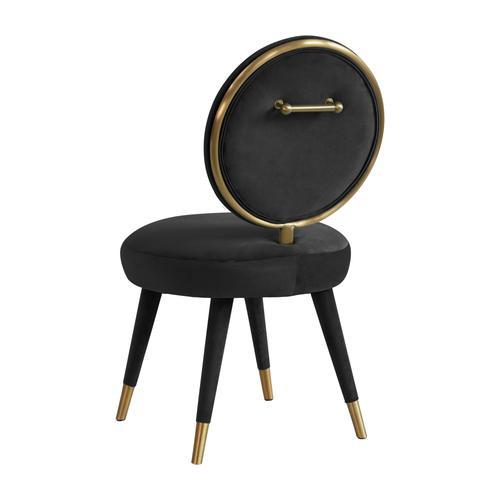 Tov Furniture - Kylie Black Velvet Dining Chair