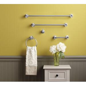 Traditional chrome towel ring