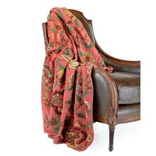 Rose Cotton Velvet Throw