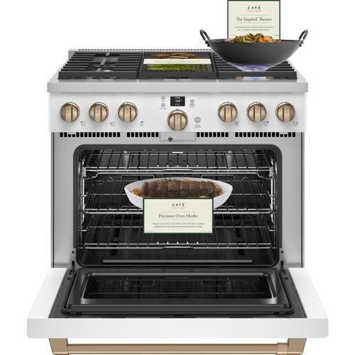 """Cafe - Café™ 36"""" Smart All-Gas Commercial-Style Range with 6 Burners (Natural Gas)"""