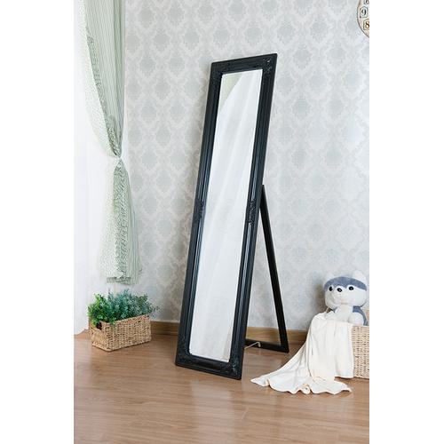 7058 BLACK Full Length Standing Mirror