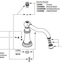 Weymouth Chrome Roman Tub Diverter Spout Kit