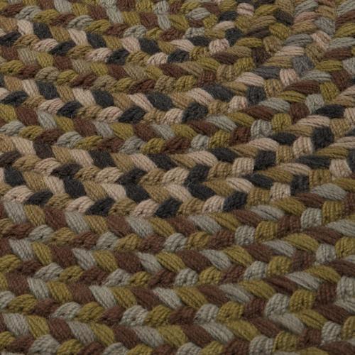 Braided Wool Runners Rug BA60 Harbor Green 2' X 7'