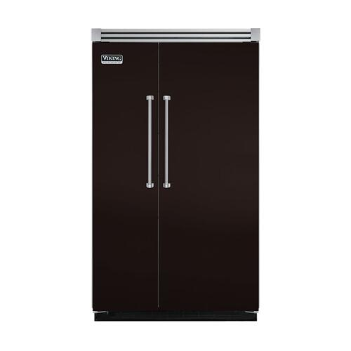 "Viking - Chocolate 48"" Quiet Cool™ Side-by-Side Refrigerator/Freezer - VISB Tru-Flush™ (48"" wide)"