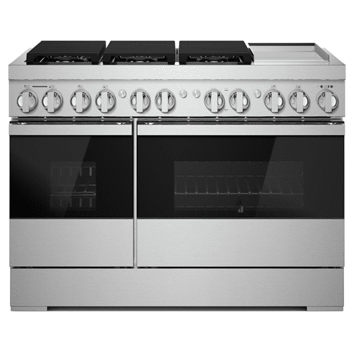 "NOIR™ 48"" Dual-Fuel Professional Range with Chrome-Infused Griddle"