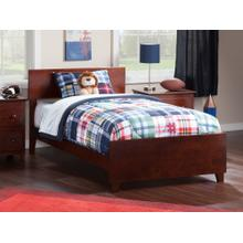 View Product - Orlando Twin XL Bed with Matching Foot Board in Walnut
