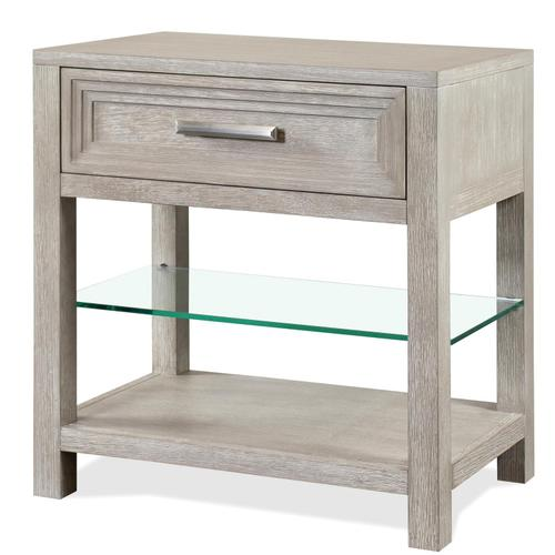 Cascade - One Drawer Nightstand - Dovetail Finish