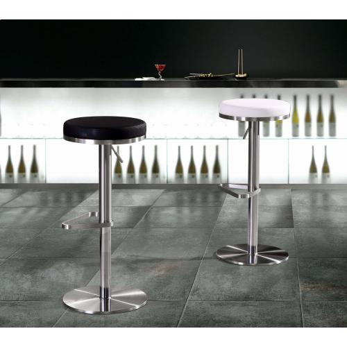 Tov Furniture - Fano White Stainless Steel Barstool