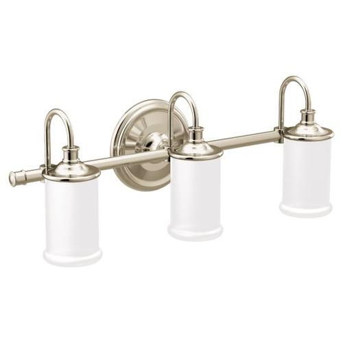 Belfield polished nickel bath light