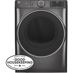 GE® 7.8 cu. ft. Capacity Smart Front Load Electric Dryer with Sanitize Cycle Product Image