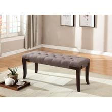 Product Image - Linon Brown Fabric Tufted Ottoman Bench