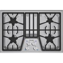 "Masterpiece 30"" stainless steel 4-burner gas cooktop"