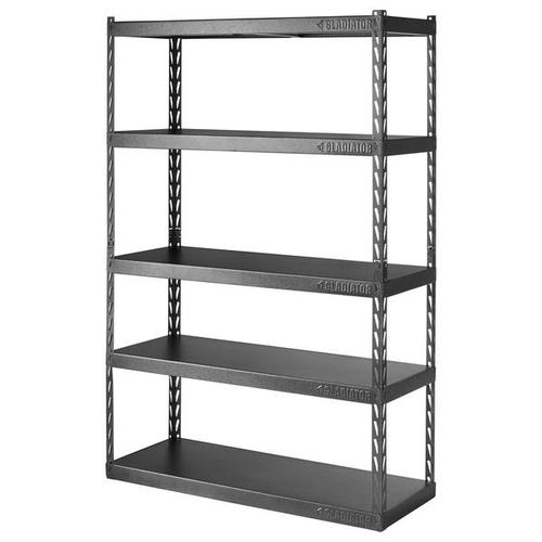 """Gladiator - 48"""" Wide EZ Connect Rack with Five 18"""" Deep Shelves"""