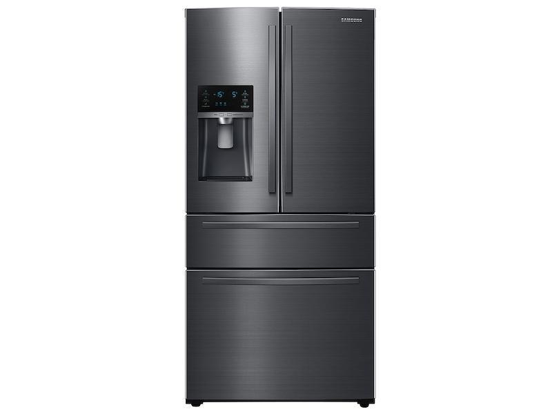 25 cu. ft. Large Capacity 4-Door French Door Refrigerator with External Water & Ice Dispenser in Black Stainless Steel