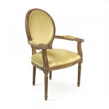 Light Olive Velvet Medallion Arm Chair