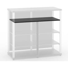 "Synergy Double-Width Shelf, 17.75\"" Aluminum Post"
