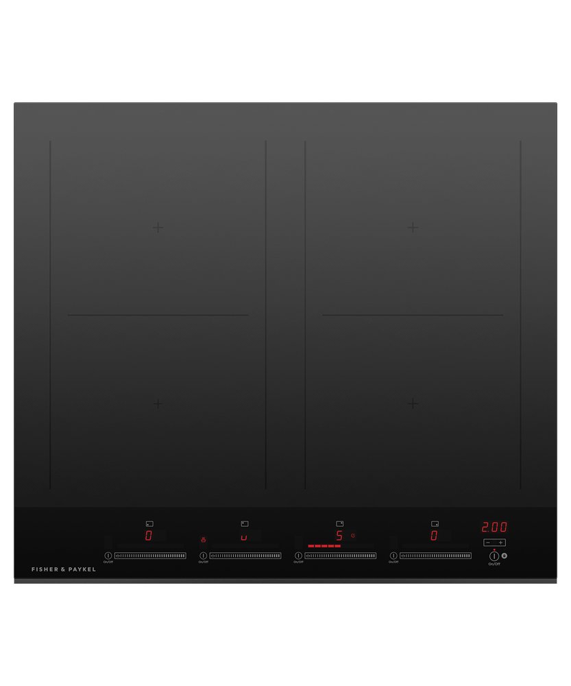 "Induction Cooktop, 24"", 4 Zones, with SmartZone"