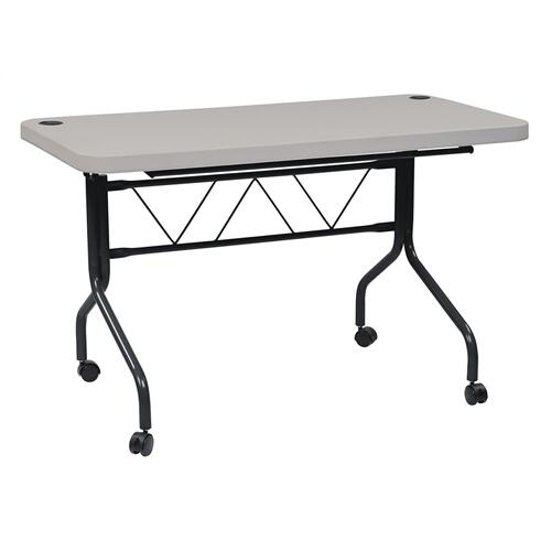 4' Resin Multi Purpose Flip Table With Locking Casters